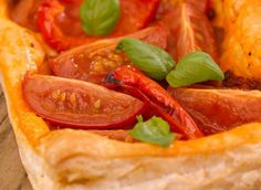 Tomato and Red Pepper Puff Fingers