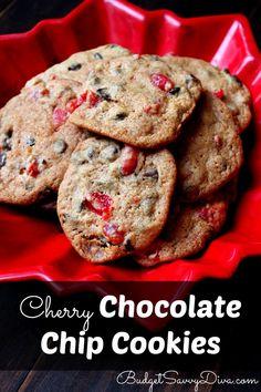 Do you like cherries :) Simple and Fun Recipe - Cherry Chocolate Chip Cookies Recipe