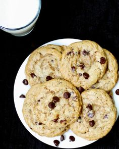 These vegan Chocolate Chip Cookies are so good, you might find yourself craving them all times of the day and night. Vegan, soy-free recipe.