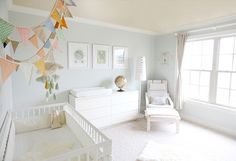 Bright, cheerful nursery.