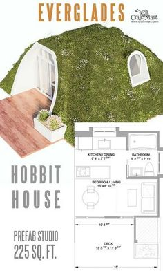 Hobbit Home Plan. 17 Hobbit Home Plan. 14 Cutest Custom and Prefab Hobbit Houses for Tiny Living Small Cabin Plans, A Frame House Plans, Small House Plans, Tiny House Trailer, Tiny House Cabin, Tiny House Living, Green Magic Homes, Earth Sheltered Homes, Underground Homes