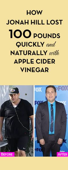How Jonah Hill Lost 100 Pounds Quickly and Naturally with Apple Cider Vinegar