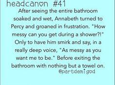 Percyjackson head canon otp Percy annabeth percabeth