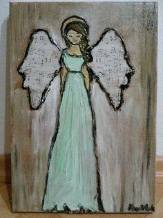 Angel on canvas