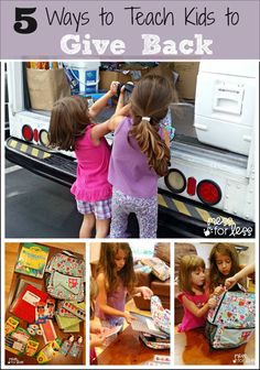 5 Ways to Teach Kids to Give Back - Tips for nurturing a giving heart in kids. #sponsored #PURELLLendAHand