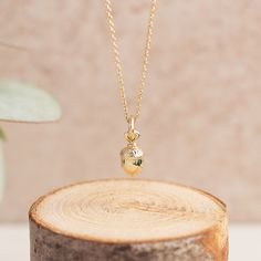 This dainty gold acorn necklace is a beautiful autumnal addition to our AW16 collection. Made from solid 9ct gold, this is add a luxurious glow to any autumnal outfit... #goldacorn #goldnecklace #aw17