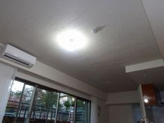 新築マンションLD天井を「珪藻土」で塗ったアフター☆模様も付いてモダン!