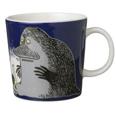 Shop the Moomin Groke Cartoon Character Mug by Arabia, a must-have collectible porcelain/ceramic mug decorated with a cult classic Moomin story. Moomin Mugs, Moomin Cartoon, Legendary Monsters, Moomin Valley, Tove Jansson, Porcelain Mugs, Marimekko, Cartoon Characters, Blogging