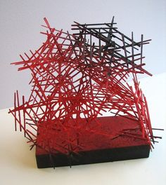Linear Sculptures with toothpicks