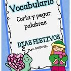 Spanish Cut and Paste Words-Seasons