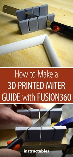 printer design printer projects printer diy Printing Printing How to Make a Printed Miter Guide With Woodworking Courses, Woodworking School, Learn Woodworking, Woodworking Bench, Woodworking Projects, Woodworking Workshop, 3d Printer Designs, 3d Printer Projects, Useful 3d Prints