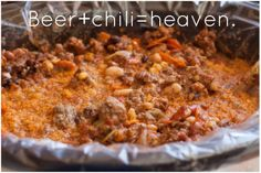 Crock Pot Beer Chili from Natalie Chiles | It's Fitting