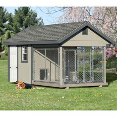 8 x 16 ft Amish Made Large 2 Run Dog Kennel with Feed Room Amish Dog Kennels   Pinecraft.com • Kennel Kits, Assembled Kennels, Heated Kennels & More