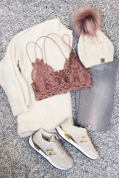 winter outfit flatlays - cute athleisure outfit by rachel moore - connecticut fashion blogger