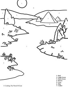 The Plague Of Blood (Color By Number) Coloring pages are a great way to end a Sunday School lesson. They can serve as a great take home activity. Or sometimes you just need to fill in those last fi...