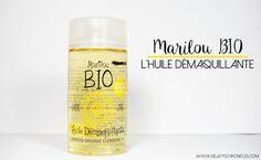 Se démaquiller avec l'huile démaquillante de Marilou Bio Bio Make Up, How To Make, Lotion, Sparkling Ice, Drinks, Bottle, Lifestyle, Products, Body Makeup