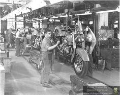 vintage harley davidson factory - Google Search
