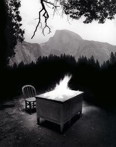 Untitled (Desk on Fire)