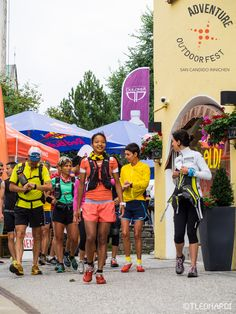 trail runners @ AOF 2015  with Mira Rai, Katia Figini and Tite Togni