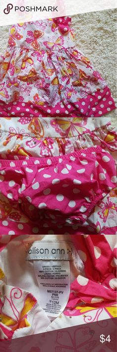 ☆Summer Clereance☆12M Allison Anne Butterfly Dress Pink! Allison Anne Dresses