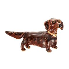 {Daschund Long Hair Pin} Erwin Pearl - lovely enamel pin - want it!