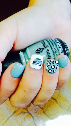 It's so funny, I usually don't like animal print, but I love it as nail art!