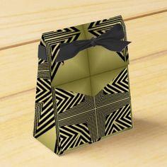 Art Deco Black and Gold Diamond Pattern Favor Box - classic gifts gift ideas diy custom unique
