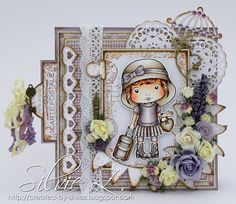 Happy Monday everyone!I hope you had a lovely weekend! Today starts a new Inspiration Challenge atLa-La Land Crafts and we have a fabulous SKETCH by Faye to follow (see at the end of my post).For my card, I used the super gorgeous LLLC Travel Marci. She's one of my favorites La-La Land Crafts imag