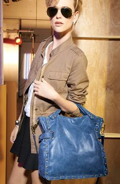 Vince Camuto Bolts Tote in Estate Blue | Nordstrom