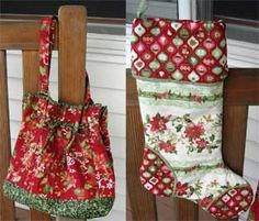 Elm Creek Quilts: The Giving Quilt Susan Rooney patterns Quilt Binding, Machine Quilting, Fabric Crafts, Christmas Stockings, Quilt Patterns, Purses And Bags, Christmas Quilting, Quilts, Sewing