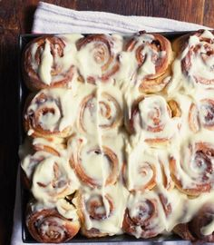 Gooey Cinnamon Rolls - these were surprisingly easy to make and came out fantastic. I added a tsp of nutmeg and some toasted pecans to the filling, and iced them with the spiced rum cream cheese icing from the rum banana cake. We loved it!