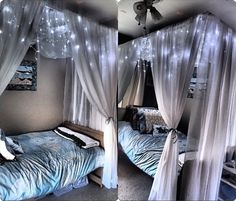 Diy canopy with lights creative and simple bedroom canopy ideas on a budget folder bedroom room . diy canopy with lights My New Room, My Room, Girl Room, Dream Rooms, Dream Bedroom, Diy Bedroom, Bedroom Ideas, Bedroom Decor Diy On A Budget, Diy Canopy