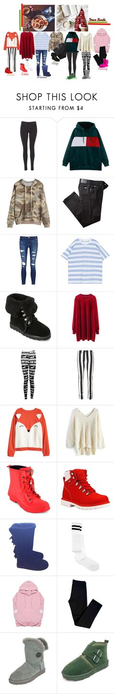 """ Candy Ninjas Christmas Special ""Dear Santa"" MV"" by candy-ninjas ❤ liked on Polyvore featuring Maison Scotch, BRAX, J Brand, Bearpaw, Boohoo, Off-White, H&M, Chicwish, Lauren Ralph Lauren and Lugz"