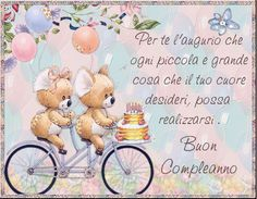 buon compleanno amica mia - Cerca con Google Birthday Wishes, Happy Birthday, Vintage Cards, Birthdays, Teddy Bear, Place Card Holders, Gifts, Animals, Google