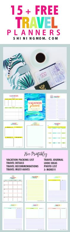 Plan your trip in style! This complete FREE travel planner printable will make your vacation a truly memorable one! Your travel journal is also included!