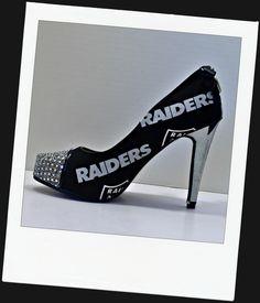 raiders heels | New Raiders heel! | Ms.MaryMac