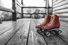 Shop Vintage Black and White Rustic Red Roller Skates Poster created by MaggieMart. Personalize it with photos & text or purchase as is! Fitness Workouts, Fun Workouts, Workout Diet, Fitness Tips, Roller Derby, Roller Skating, Roller Disco, Skating Rink, Body Challenge