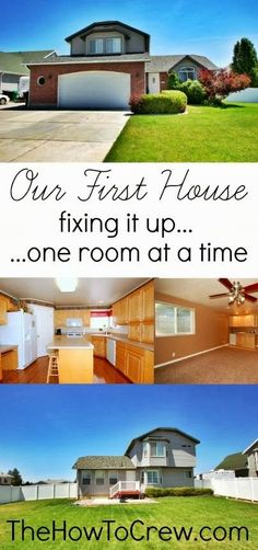 Our First House...Fixing it up one room at a time by the HowToCrew.com.  Follow us on our journey to remodel our home! #DIY #remodel buy a home buying your first home #homeowner