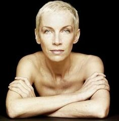 annie lennox - the goddess of short hair cuts. (love her)
