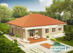 Projekt domu Eris G2 (wersja B) - widok z góry