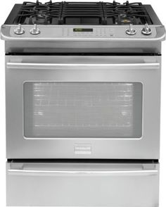 Frigidaire Professional 30 Dual Fuel Slide In Gas Range Smudge
