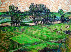 Gogh, Vincent van (Dutch, 1853-1890) - The Oise at Auvers - 1888 | Flickr - Photo Sharing!