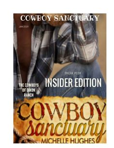 Grab your boots and your cowboy hat and join us on the Dixon Ranch for the release of Cowboy Sanctuary, by Michelle Hughes.  Available now on Amazon! https://www.yumpu.com/en/document/view/56677498/kindle-scout-book-cowboy-sanctuary-sneak-peek