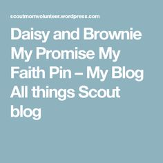 Daisy: My Promise My Faith Pin