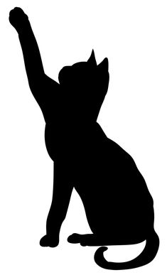 Cat Crafts, Halloween Crafts, Cat Quilt Patterns, Cat Template, Black Cat Tattoos, Cat Silhouette, Cat Stickers, Diy Embroidery, Line Drawing