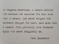 John Steinbeck quote hand typed on antique typewriter