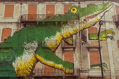 Street Art on Avenida Fontes Pereira de Melo by Dmitri Korobtsov, via Flickr