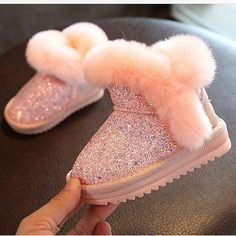 Adorable kids glitter boots