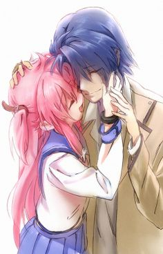 Day 8: Favorite Anime Couple ANGEL BEAT'S YUI X HINATA