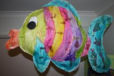 Fish Tales Idea: large paper stuffed fish | add  several sheets of paper to tail to create a shaped book and write your fish tale/tail!